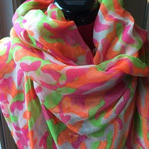 Pink Multi-Color Scarf